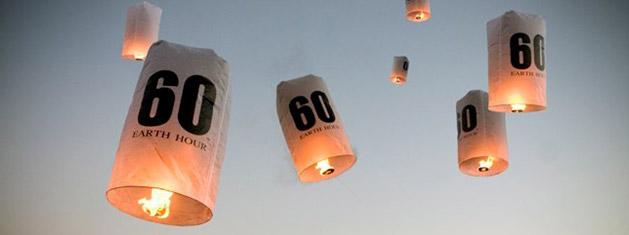 Earth Hour-lanterner slippes over Cape Town, Sør Africa (Credit: Earth Hour)